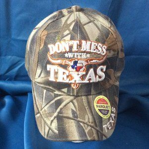 "Tan Camo Texas Baseball Hat ""Dont Mess with texas"""